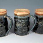 Salmon Mugs by Sorrento Stoneware